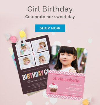 Browse Personalized Birthday Invitations