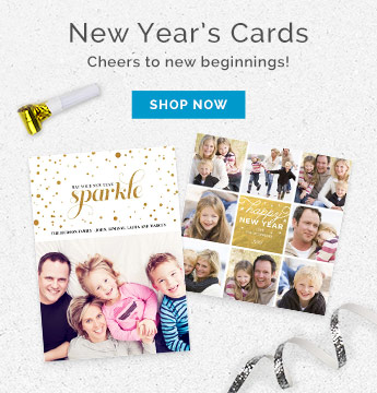 New Year's Cards - Holiday Photo Cards